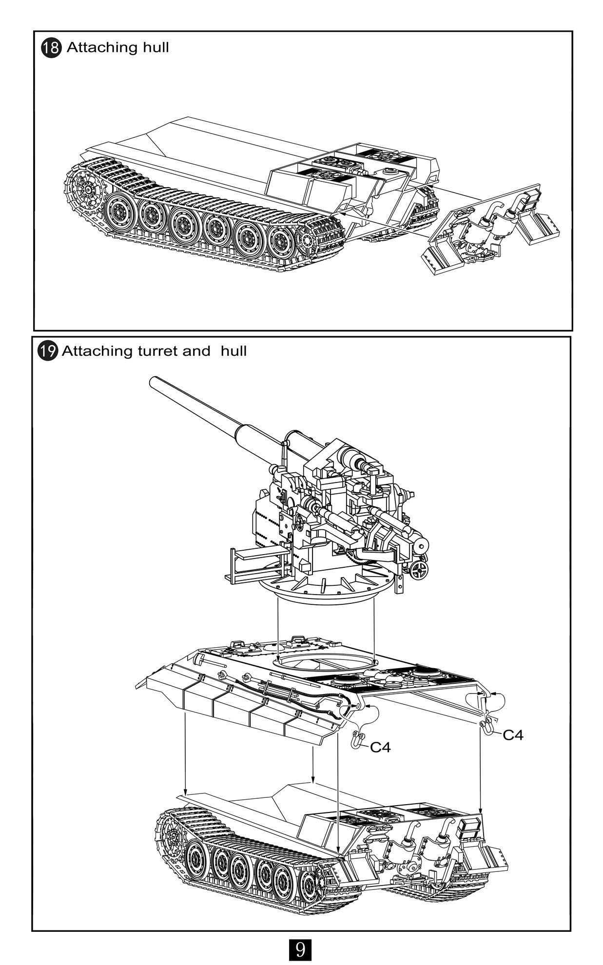 German Wwii E 50 Medium Panzer With 128mm Flak 40 Gun