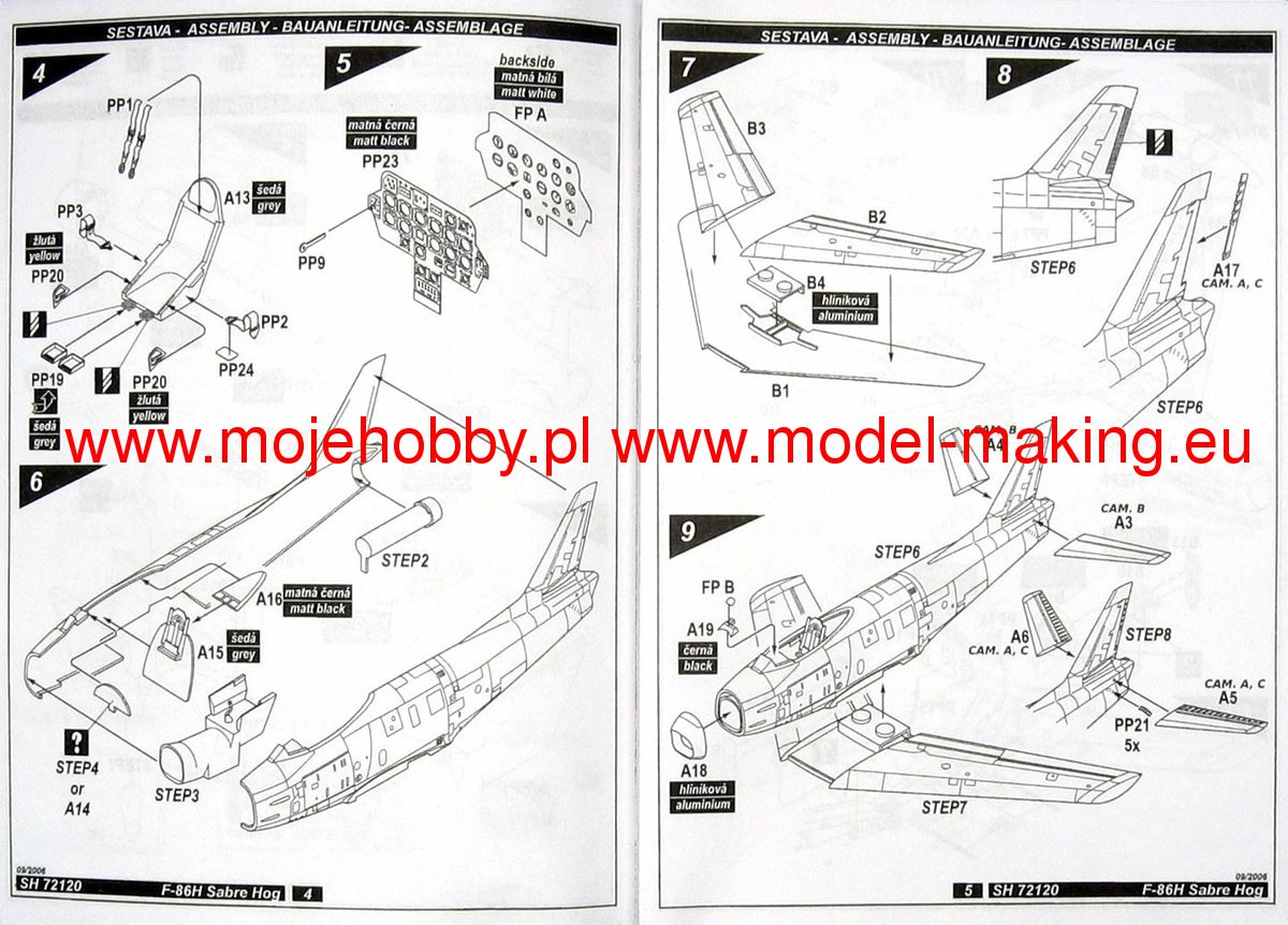 F 86h Sabre Hog In Usaf Service Model Do Sklejania Special