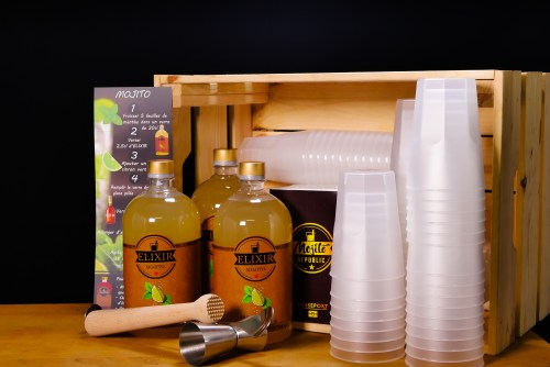 Kit comprenant 3 elixir mojito