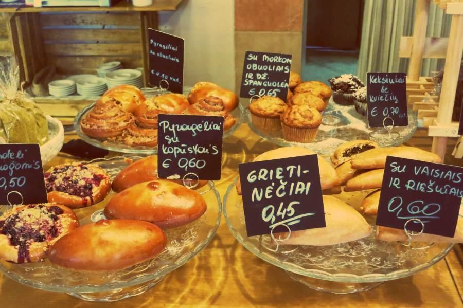 Bäckerei Rugutis in Vilnius. Einzige Sauerteig-Bäckerei in Vilnius