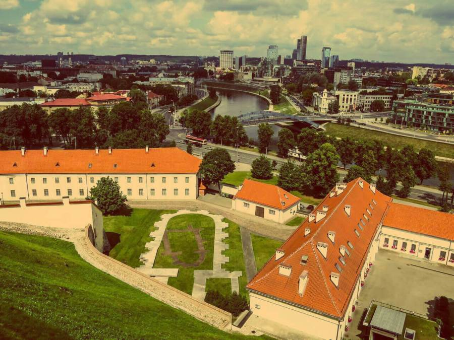 Blick von Gediminas Turm in Vilnius im Sommer