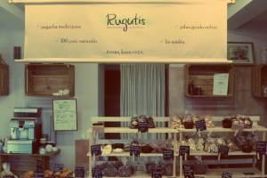 Vilnius in Litauen. Bäckerei Rugutis in Vilnius. Einzige Sauerteig-Bäckerei in Vilnius