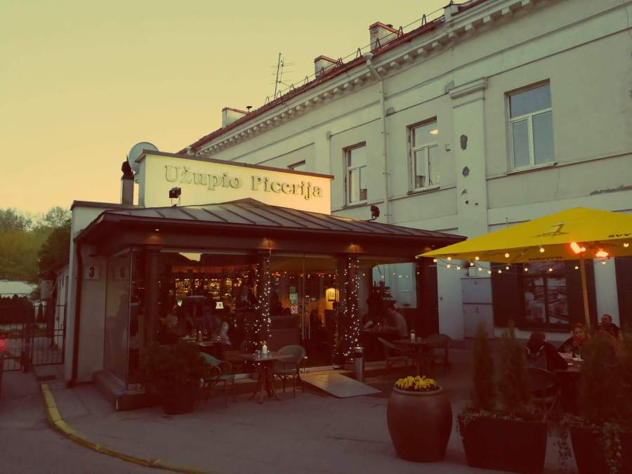 Gutes Restaurant in Uzupis in Vilnius