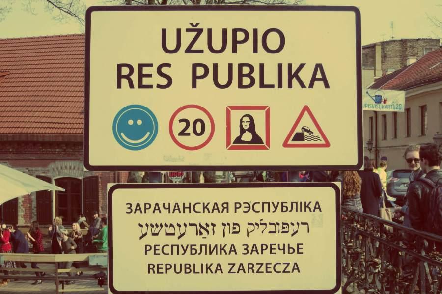 Uzupis-Republik in Vilnius, Litauen