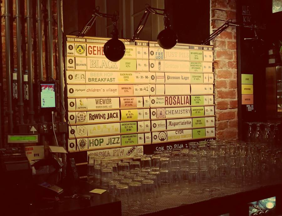 Craft Beer Bar Warschau Kufle i Kapsle