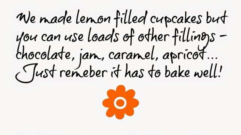 Simple Lemon filled Cupcakes