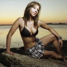Artistic sunset portrait photography for model portfolio development