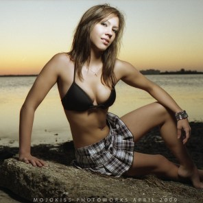Artistic sunset portrait photography for model portfolio development