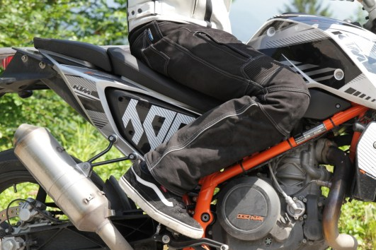 Passform auf dem Motorrad: noch besser. So mut dat.
