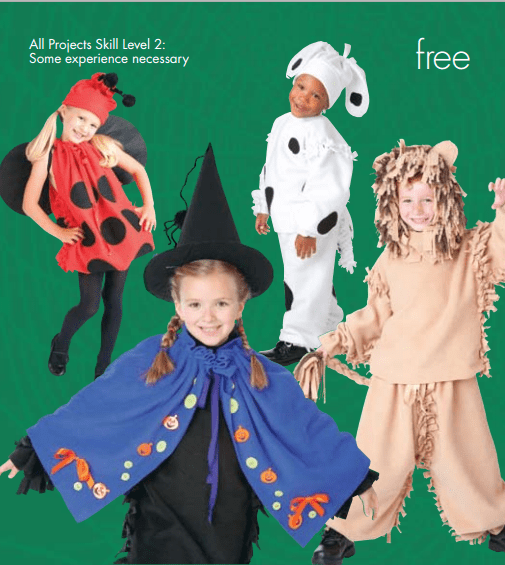 FREE No Sew Fleece Costume Ideas from JoAnn Fabrics