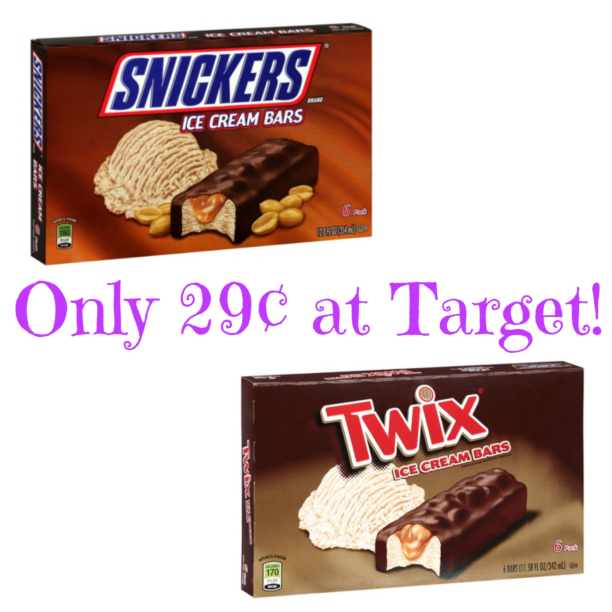 Snickers or Twix Ice Cream Bars Only 29¢ at Target! – Mojosavings.com