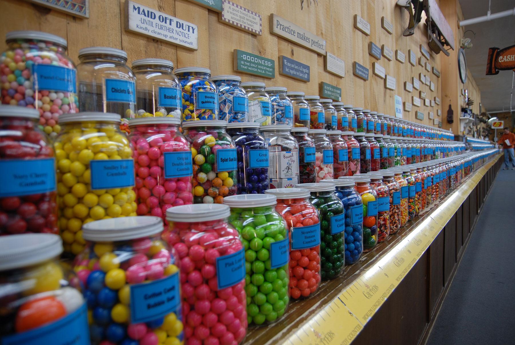 record breakers world u0027s longest candy counter america u0027s most