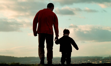 A-father-and-son-walking