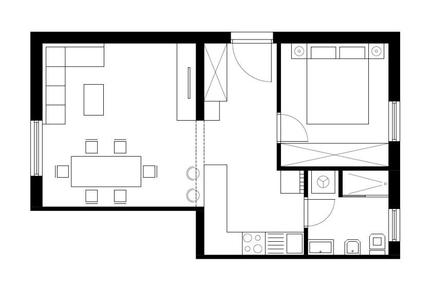 Stan uguran u dvije spavaće sobe