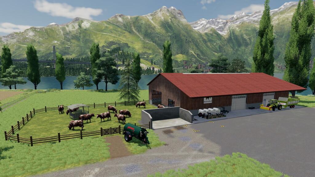Moderner Kuhstall