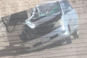 وفاة معلمة وإصابة اثنتين جراء حادث تصادم (صور)