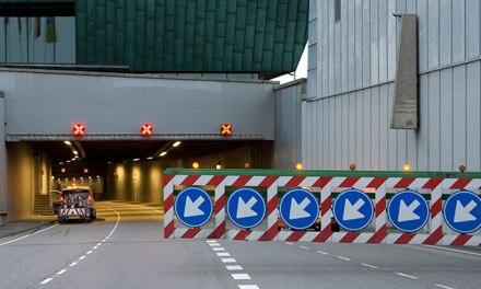 Fietsen door de IJtunnel: 'Bij de klim omhoog moest ik wel even aanzetten'