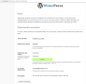 WebMatrix3 Windows 8 y WordPress