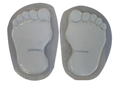 Footprints bare feet concrete stepping stone mold set 1280