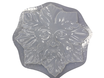 Green Man Leaf Face Concrete Or Plaster Mold 7205