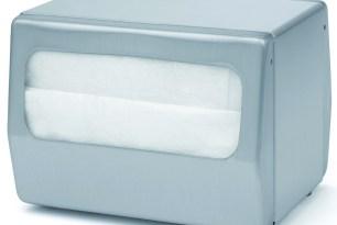 Dispensador acero inoxidable satinado para servilletas Minifold, tipo sobremesa