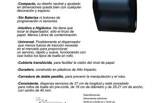 Nuevo dispensador AUTOCORTE mecánico COMPACTO Modelo 202