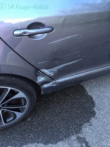 Good thing I had insurance since someone decided it acceptable to hit my car and drive off!