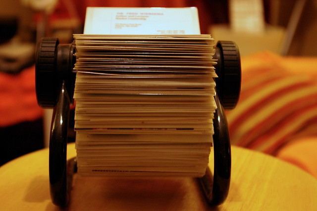It's worth your time to open up your Rolodex (TM) and recommend some reviewers — but give the choice some real thought. (Flickr: Ged Carroll)