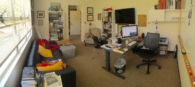 John assured me that he didn't move a single thing in his office before taking this photo.