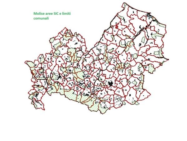 Molise siti di importanza Comunitaria e limiti comunali