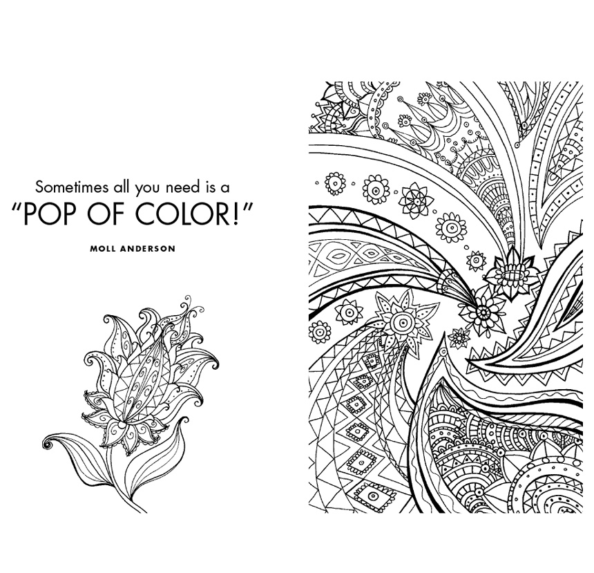 What's Your Color Story? A Guided Journal Coloring Book