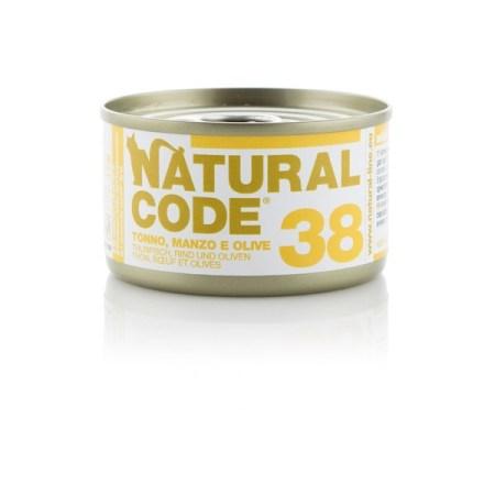 Natural Code 38 Tonno, Manzo e Olive• 0,85g