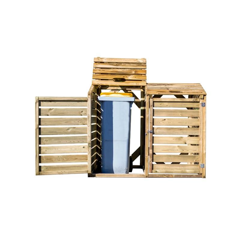 Copri bidoni per la raccolta differenziata in Legno 150x90x120 h CP 15090  FORESTA CP 15090