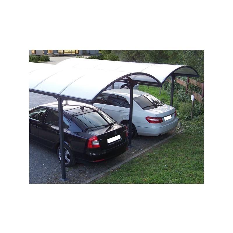 Tettoia in alluminio e policarbonato 485x600x250 h CARPORT 6048   FORESTA CAR 6048 ALRP