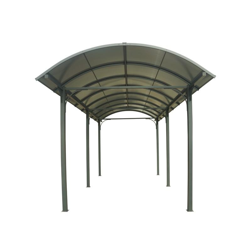 Tettoia in alluminio e policarbonato 359x762x360 h CARPORT 3676  FORESTA CAR 3676 ALCC