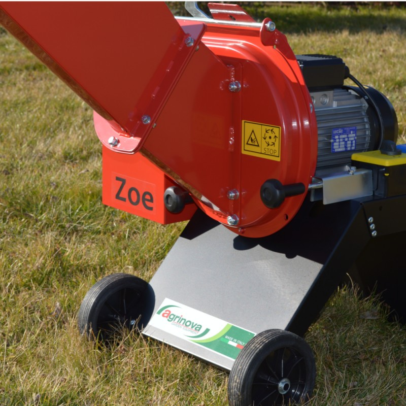 Biotrituratore Elettrico motore 3HP monofase AGRINOVA ZO35 Sistema lame e martelli  max rami 35