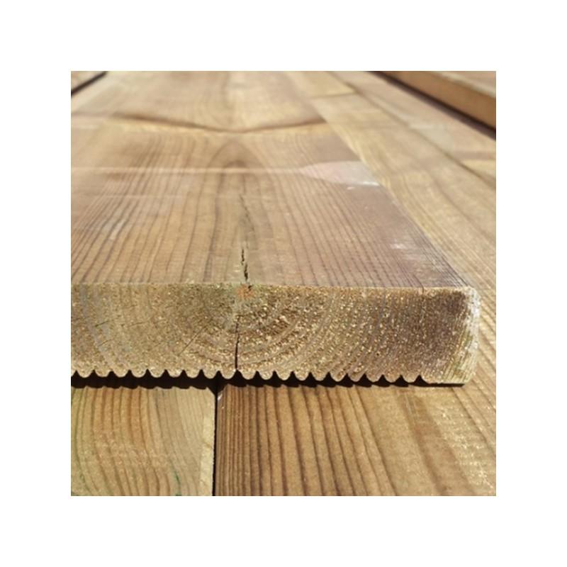 Listone pavimentazione esterno in pino impregnato LOSA Legnami  19x95x240 cm  classe 4
