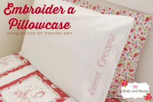 Embroider a Pillowcase with an Iron-On Transfer