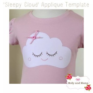 Introducing the 'Sleepy Cloud' Applique Template