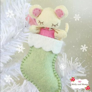 Sew a Felt Christmas Mouse