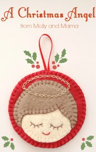 A Felt Christmas Bauble