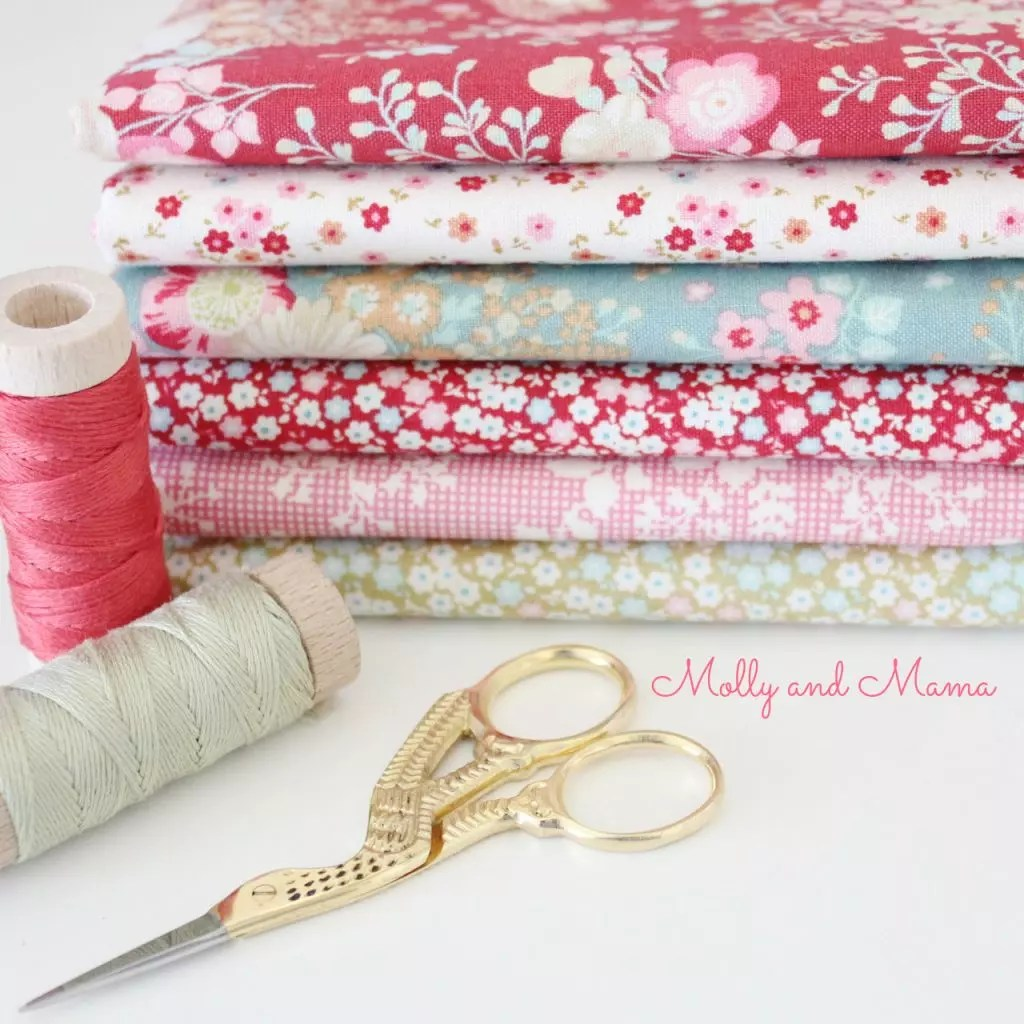 A pretty Tilda fabric bundle - Molly and Mama