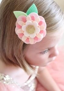 Make Felt Flower Hair Clips with Sizzix