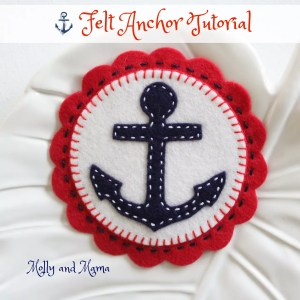 Make Nautical Felt Anchor Coasters, Ornaments and More
