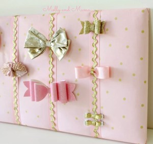 Make a Hair Bow Holder and Matching Clips