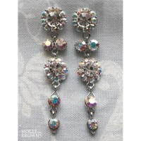 Large Daisy AB Crystal Large Drop Earrings - Jewellery by ...