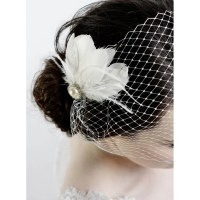 Pearl Feather Bridal Hair Clip - Wedding Hair Accessories ...