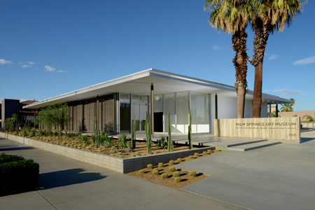 Exterior view of the Architecture + Design Center, Edward Harris Pavilion Photo: Daniel Chavkin, courtesy Palm Springs Art Museum