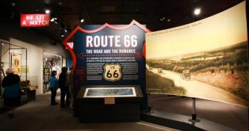 "Installation view ""Route 66: The Road and the Romance"""