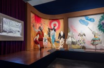 """Installation view: """"Chagall: Fantasies for the Stage,: from """"Aleko,"""""""